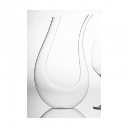 Decanter in vetro u shape wine&co evviva