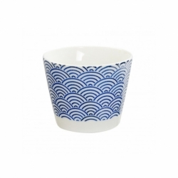 Nippon blue tazza 8.5x6.8 cm wave