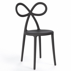 Sedia nera ribbon chair Qeeboo