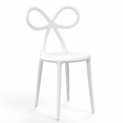 Sedia bianca ribbon chair Qeeboo