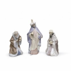 Set Re Magi Porcellana Statuetta Lladro