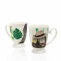 Brandani - mug savana set 2 pz bone china