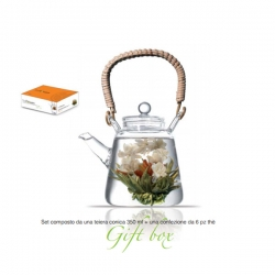 Theiera Vetro 350 Ml Con Tea Box 6Pz Lady Bird Rogaska