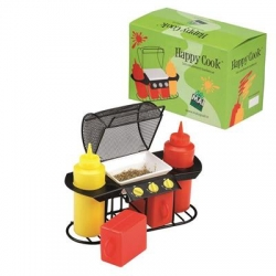 "SET CONDIMENTI ""BARBECUE"" HAPPY COOK CON 2 FLACONI"