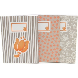 Set 3 notebook a6 tulip