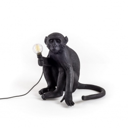 Lampada in resina monkey lamp outdoor black seletti