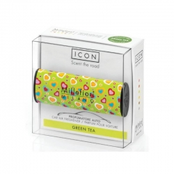 "Car air freshener icon cuori e fiori"" 05 - green "" millefiori"