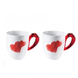 Set 2 mug love guzzini