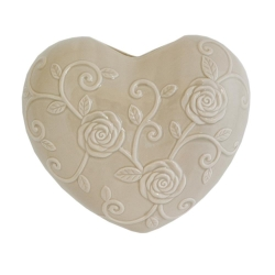 EVAPORIAMO Cuore Tortora In Porcellana Cm 15X17 In Gift Box