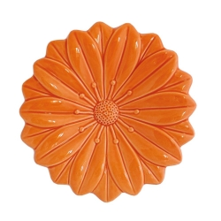 EVAPORIAMO Fiore Arancio In Porcellana Cm 17,5X17,5 In Gift Box