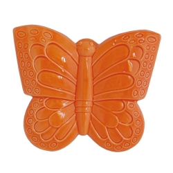 EVAPORIAMO Farfalla Arancio In Porcellana Cm 16X18 In Gift Box