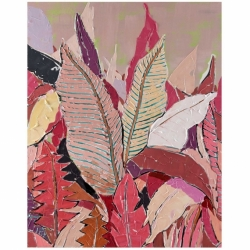 Quadro pink leaves 120cm Agave