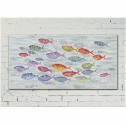 Colorful Fishes 140Cm Agave Quadri