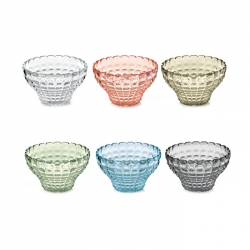 Set 6 contenitori cm 12 tiffany multicolor guzzini