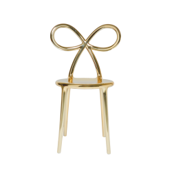 Sedia metal ribbon chair Qeeboo oro