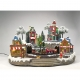 Village with train animated Multi color-Adapter incl.- LED-46.50x36x35
