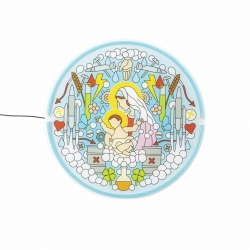Decorazione led la Vergine Maria blow-gospel led light Seletti