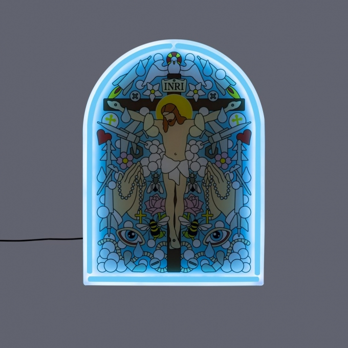 Decorazione led vangelo blow-gospel sing seletti