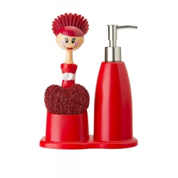 Set lavabo cuore doll rosso vigar