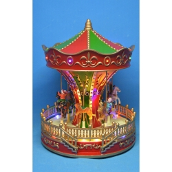 Carousel animated Red-Battery-LED-22x22x27.5