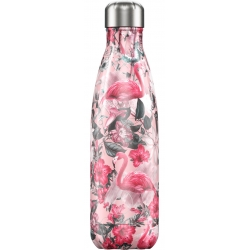 Chillys bottiglia 500 ml emma tropical flamingo