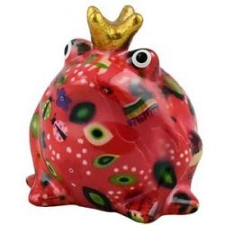 Moneybox King Frog Freddy Small Fuxia Pomme Pidou