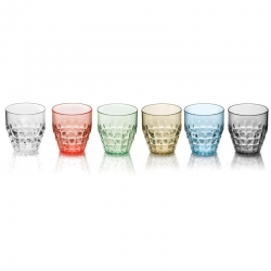 SET 6 BICCHIERI BASSI TIFFANY- MULTICOLOR