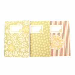 Set 3 notebook a6 sunflower