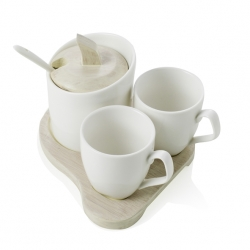 COFFE SET SQUARE 3 PZ PORCEL B