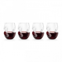 Touch red wine conundrum glass