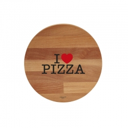 TAGLIERE TONDO ? 30 CM I LOVE PIZZA / BLACK & RED